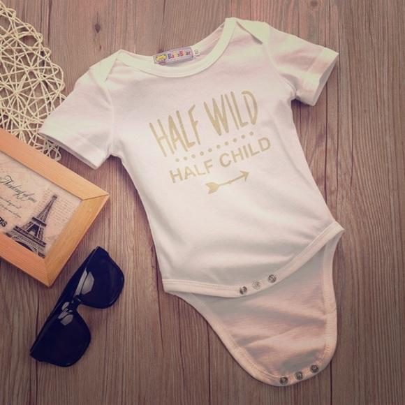 70a3cd4431137 Wild Child Newborn Baby Onesie Outfit 🎁 gift idea Boutique