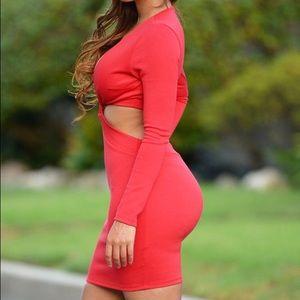 AX Paris Dresses & Skirts - 45% OFF Red Twist Dress AXPARIS