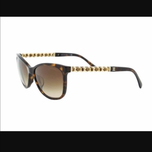 d61e688b8d44f CHANEL Accessories - Chanel cat eye chain sunglasses