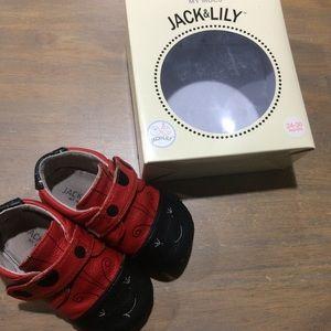 Jack&Lily Other - 👧🏻Jack&Lily Leather ladybug bootie moccs 24-30m