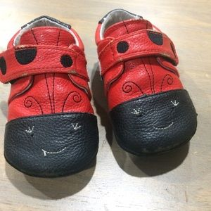 Jack&Lily Other - 👧🏻Jack&Lily Leather ladybug bootie moccs 24-30m