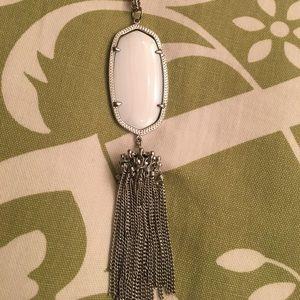 Pearl Kendra Scott Tassel necklace