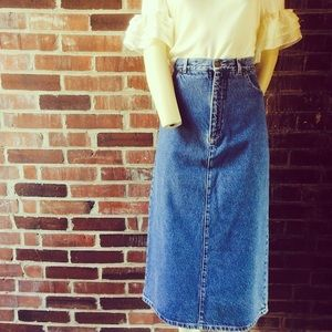 Vintage Essential Denim Skirt