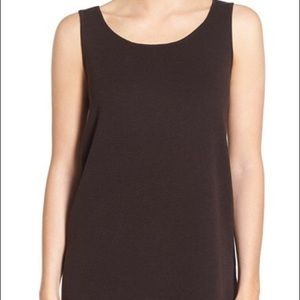 Eileen Fisher Tops - Eileen Fisher Round Neck Wool Crepe Long Tank XL
