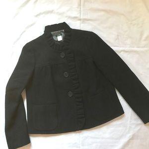 J. Crew Jackets & Blazers - J. Crew Ruffle Trimmed Wool Jacket