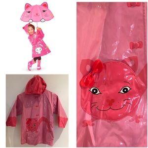 Kidorable Other - Cute Kidorable size 5/6 Girls Lucky Cat Rain Coat