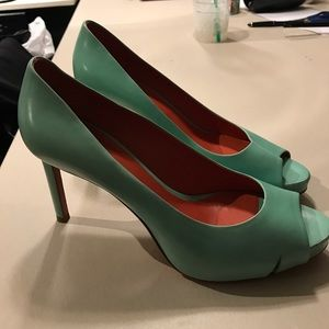 Santoni Shoes - Santoni Aqua/Turquoise Pumps