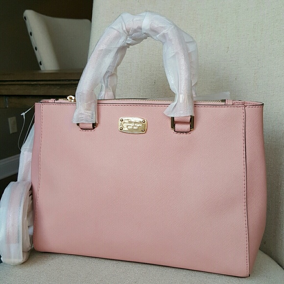 d6ad125c45175b Michael Kors Bags | Kellen Leather Satchel Pale Pink Bag | Poshmark