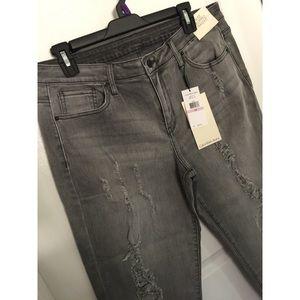 Calvin Klein Jeans Denim - NWT Calvin Klein Jeans Grey Fog Cropped Size 32