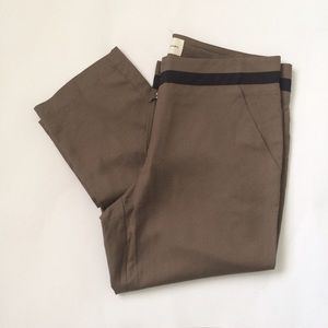 Graham and Spencer brown Silk ankle Pants