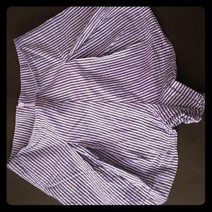 AA high waisted pin striped shorts