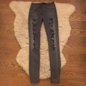 3x1 Denim - 3x1 Skinny Grey 'Shredder' Jean