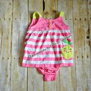 Carter's Other - 👸Girls Striped Dress Romper Size 24 Months
