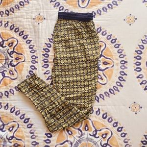 Navy and Yellow Patterned Lounge Pants