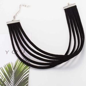 Jewelry - Multi layer black choker necklace