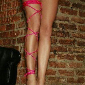 Electric Lingerie Hot Pink Twisted Leg Garter
