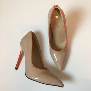 Shoes - Nude and orange detail pumps