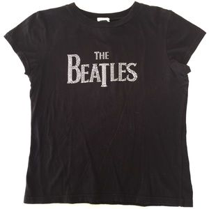 "Official ""The Beatles"" Bedazzled Logo Band T-Shirt"