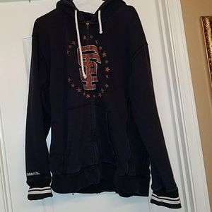 Mitchell & Ness Tops - Vintage Style San Francisco Giants Zip Hoodie