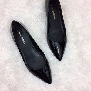 Via Spiga Shoes - VIA SPIGA black patent leather pointed flats
