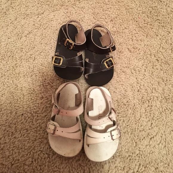 889d7c15af05 Sun San Sea Wees Leather Saltwater Sandals sz 4. M 58afa38356b2d6c421007c00