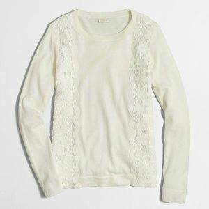 Jcrew lace panel sweater