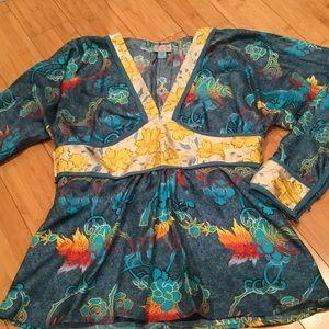 Tracy Reese silk kimono style top, Sz 6