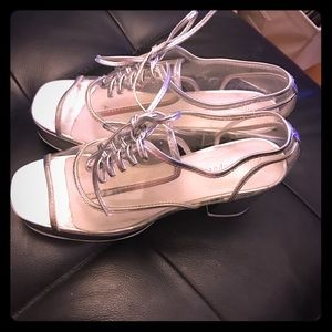 Jeffrey Campbell Shoes - Jeffrey Campbell- clear lace up shoes