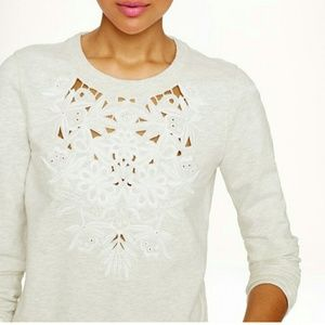 J. Crew Factory Tops - Jcrew cutout floral sweatshirt