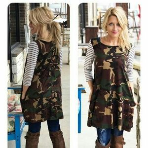 Dresses & Skirts - Camo dress/tunic