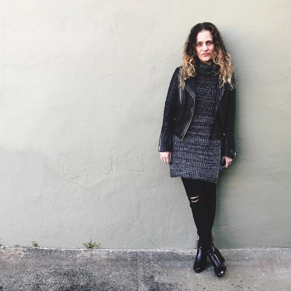 BVO Sweaters - Chunky Marled Knit Tunic
