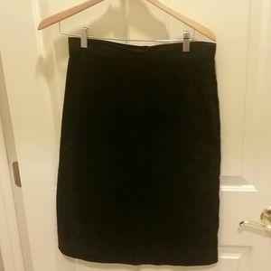 Lord & Taylor Dresses & Skirts - Lord and Taylor black suede straight skirt