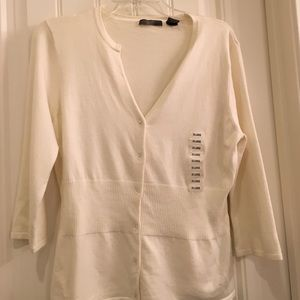 kersh Sweaters - White button up sweater
