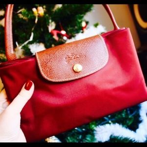 New Longchamp le Pliage tote large in burgundy