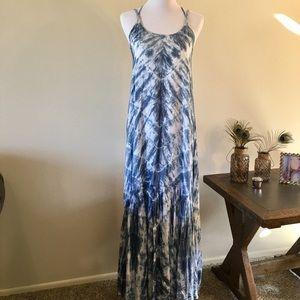 Elan Dresses & Skirts - Blue and White Tie Dye Maxi Dress