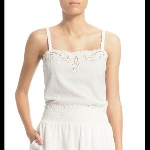 The Kooples Tops - The Kooples Broderie anglaise sleeveless top large