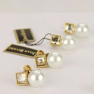 Joan Rivers Jewelry - Joan Rivers Elegant Pearl Crystal Earrings-White