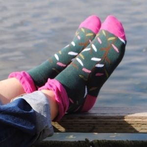 """Peony and Moss Accessories - Peony & Moss """"Little Leaves"""" Socks"""