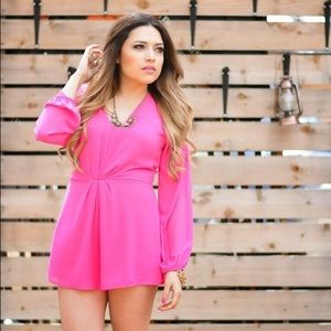Pants - Hot Pink romper