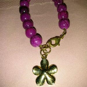 Fashion Bracelet purple pearls