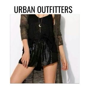 "UO SEQUIN Black ""Club"" Shorts NWOT $59 L"