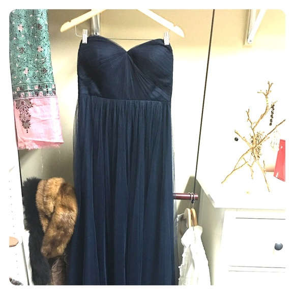 Jenny Yoo Dresses & Skirts - Jenny yoo navy aiden gown size 10