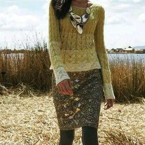 Anthropologie MOULINETTE SOEURS wool pencil skirt