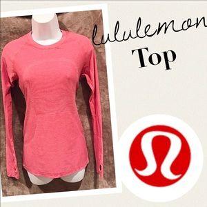 Lululemon salmon color long sleeve runner top