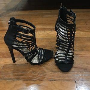 Paprika Shoes - Brand new black strappy sandal heels.