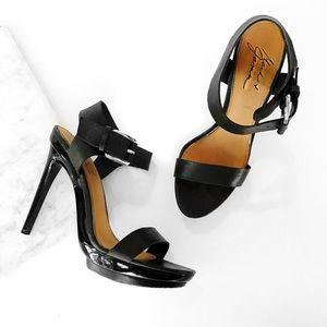 Badgley Mischka Shoes - Mark + James Badgley Mischka black strappy heel