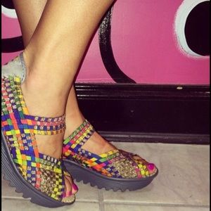 bernie mev. Shoes - Bernie Mev Comfi Black Rainbow Sandals