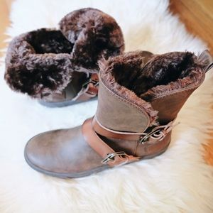 Blowfish Shoes - Fur Mid Calf Boots