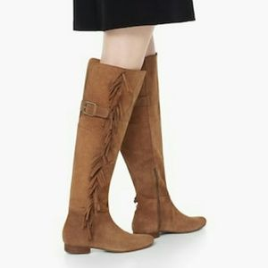 Real Suede Over the Knee Boots