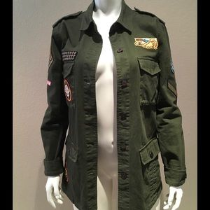 Willow & Clay Jackets & Blazers - Willow & Clay Military Patch Jacket
